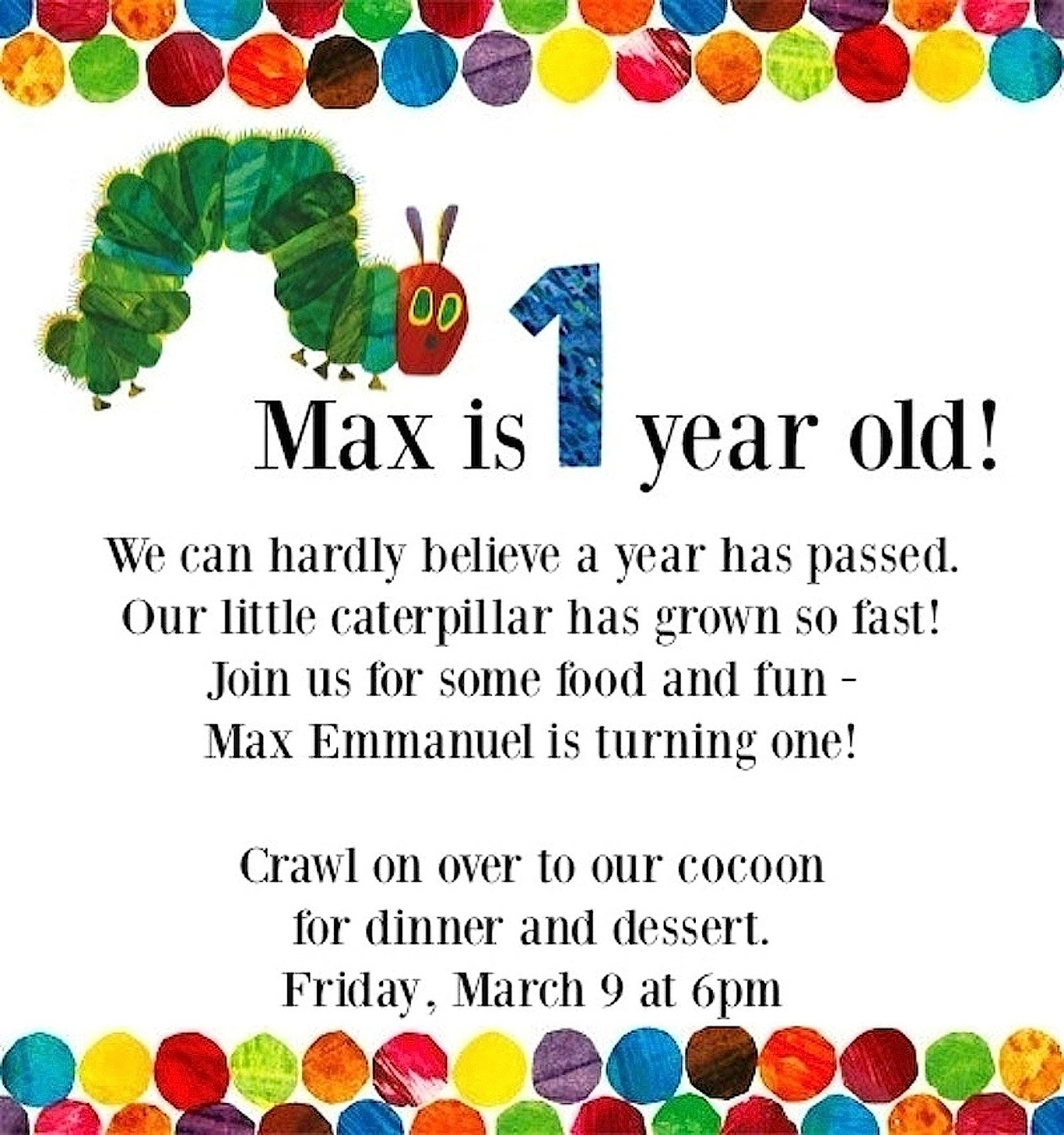 Maxs First Birthday Party Cotugno Family Blog
