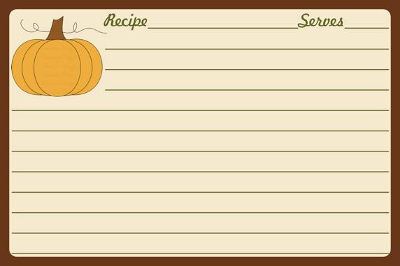 Parraclan Designs: Thanksgiving Clip Art Recipe Cards ...