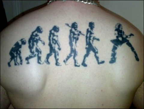 Cool Music Tattoo