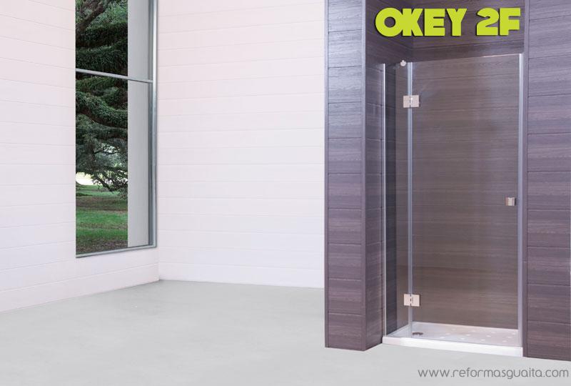 Mampara okey 2f fijo puerta abatible reformas guaita - Puertas abatibles cristal ...