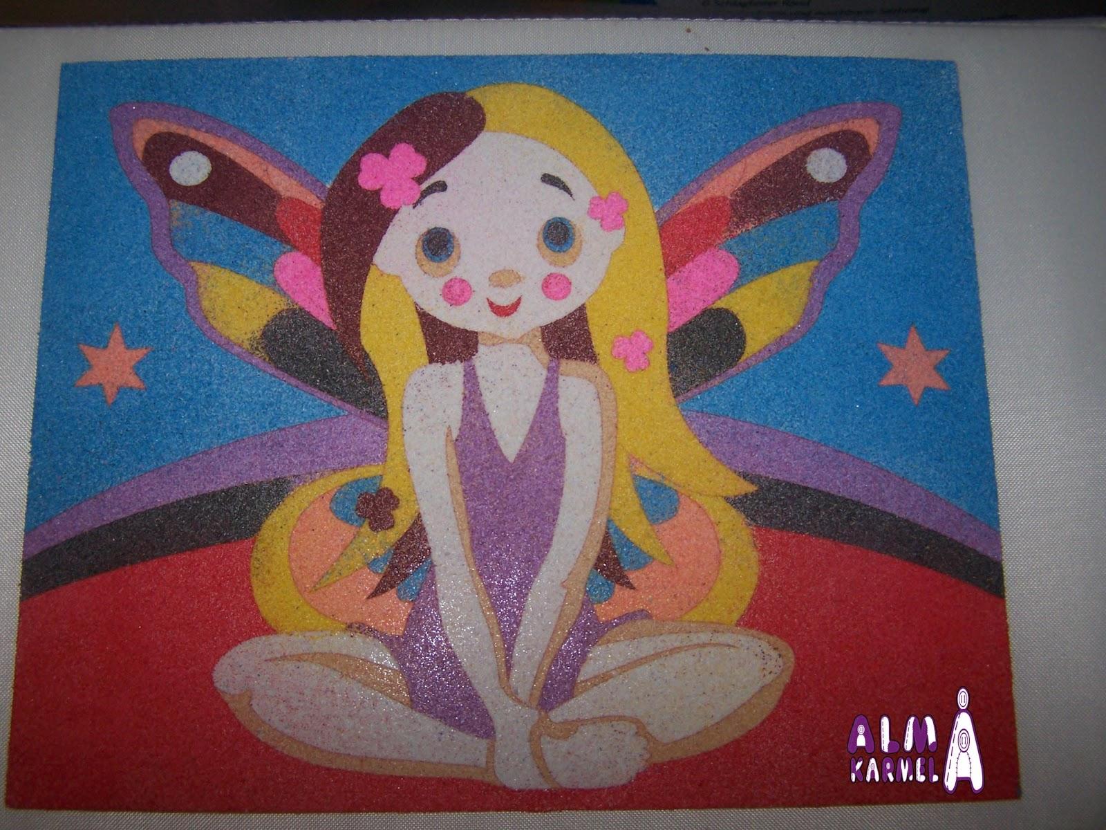 Almakarmela dibujos con arena - Arena de colores ...