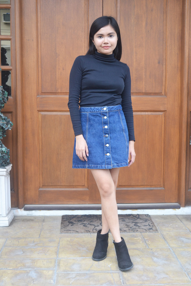 What To Wear With A Denim A Line Skirt | Fashion Skirts