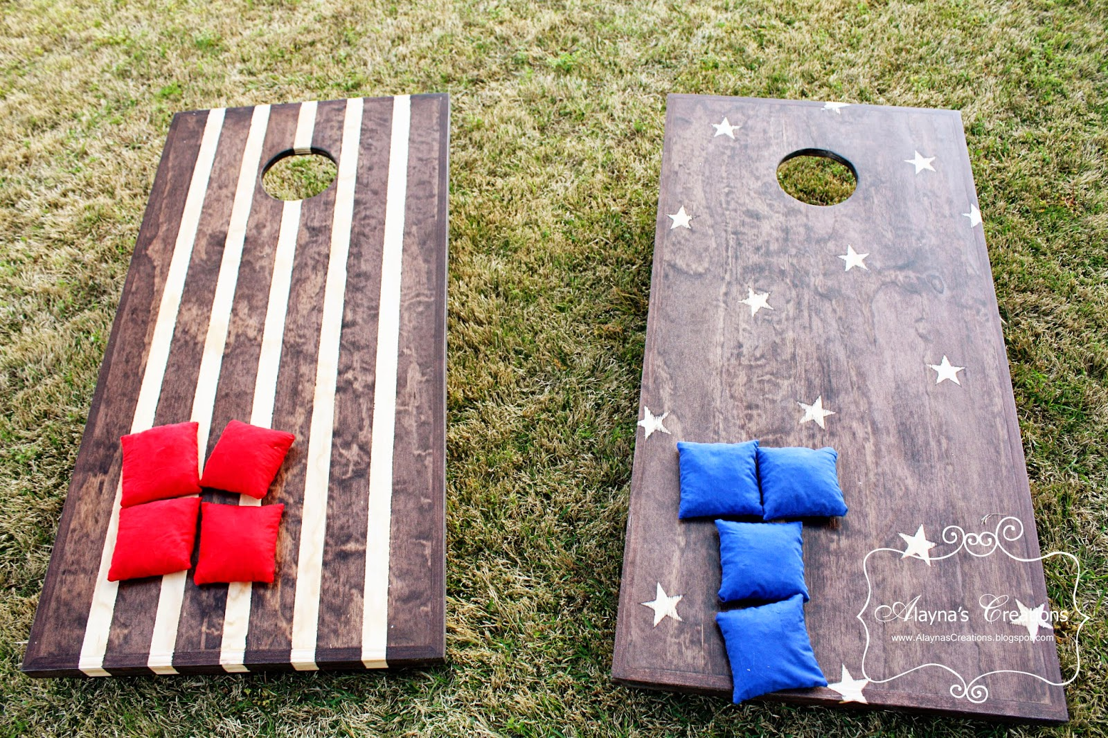alaynaus creations diy corn hole with make your own cornhole set - Cornhole Design Ideas