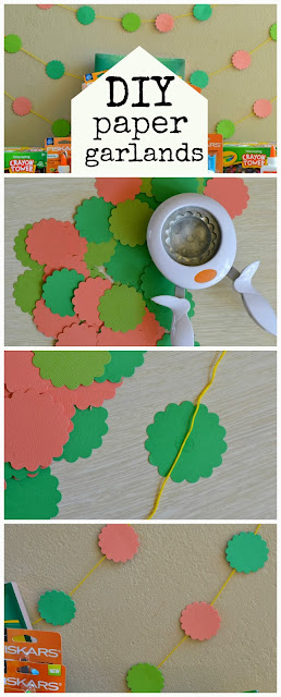 How to make Easy DIY Paper Garlands #DIY #crafts #party #decor