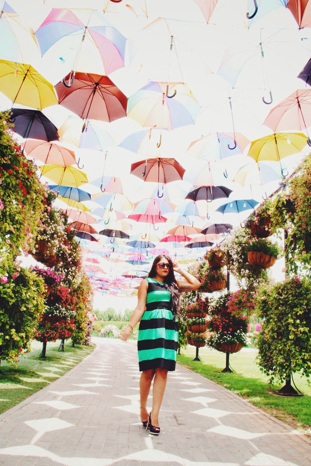Striped dress Miracle Garden Myntra
