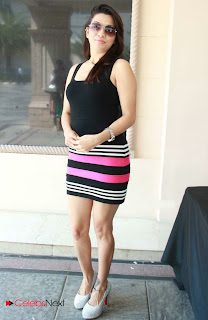Parinidhi  Pictures in Black Mini Dress at Melange Exhibition  0013