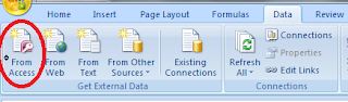 Tab import File Access - Excel