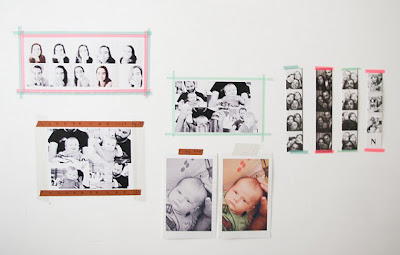 washi tape pictures wall