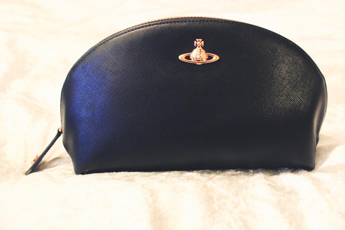 Vivienne Westwood Leather Copper Make Up Bag