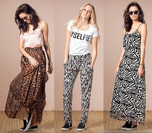 Núcleo Moda primavera verano 2015 maxifaldas y vestidos largos moda verano 2015.