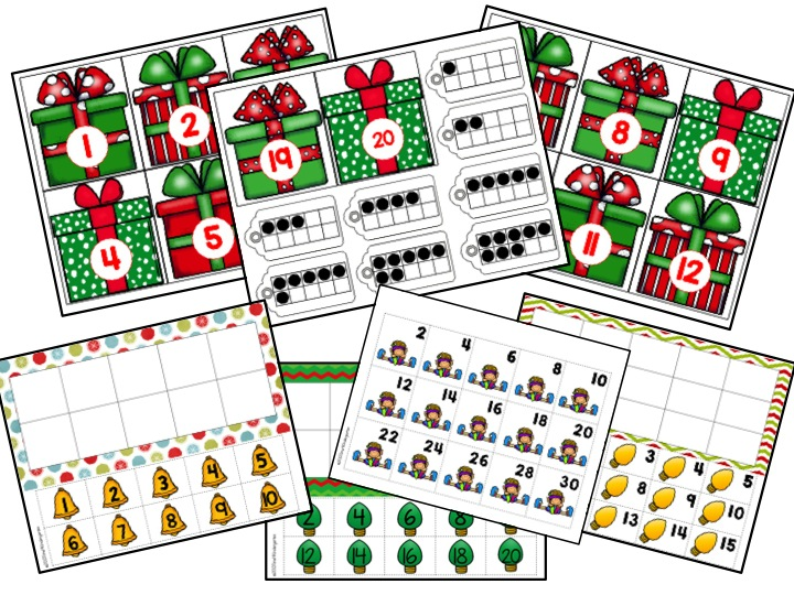 december math center.  Christmas math