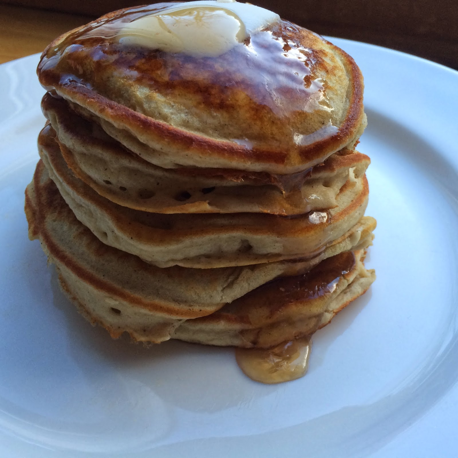 Blender Buttermilk Banana Pancakes