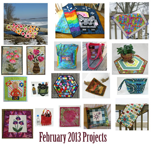 February quilting projects at Freemotion by the River
