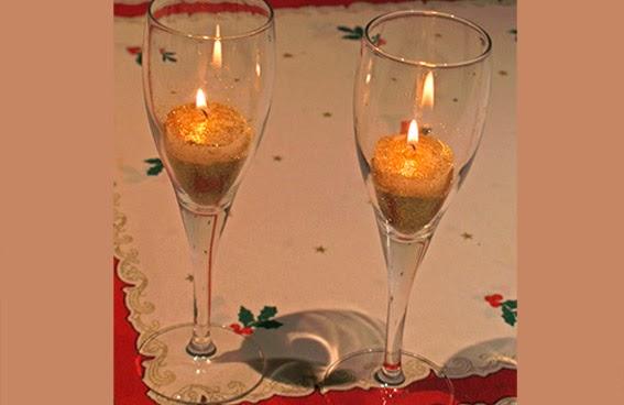 velas en copas para navidad