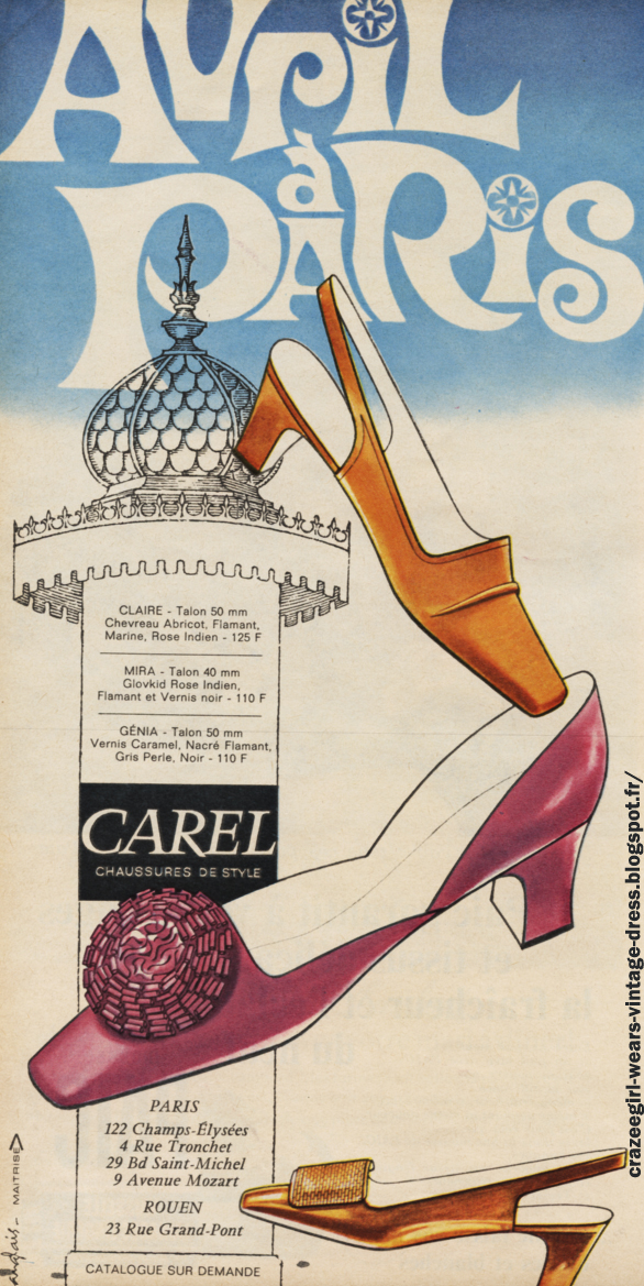 Chaussures Carel 1967 60s 1960 mod