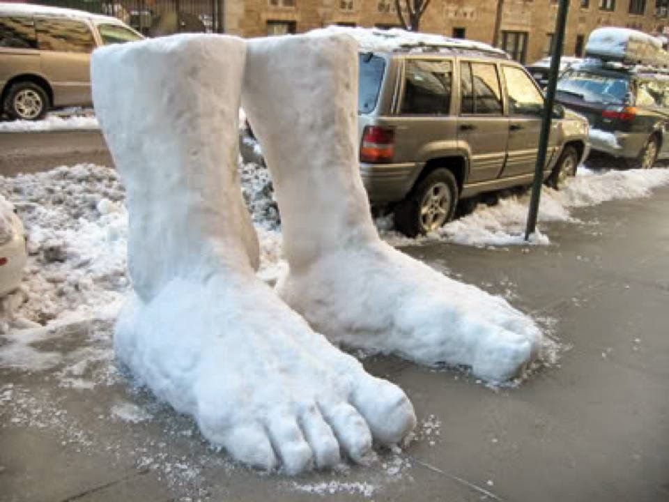 See? Two feet of snow!