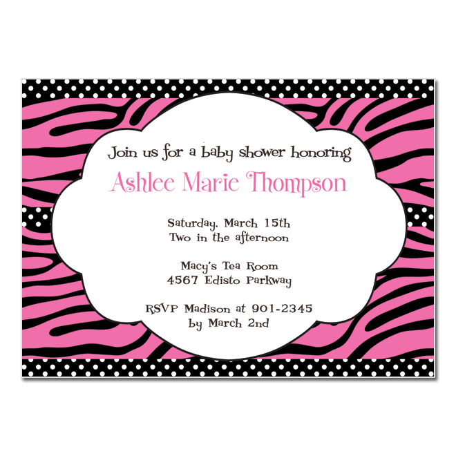 Belle announces pink leopard shower invitation party invitation or bridal shower just let me know and i will customize it to match your event the pink and black leopard print can also be customized filmwisefo