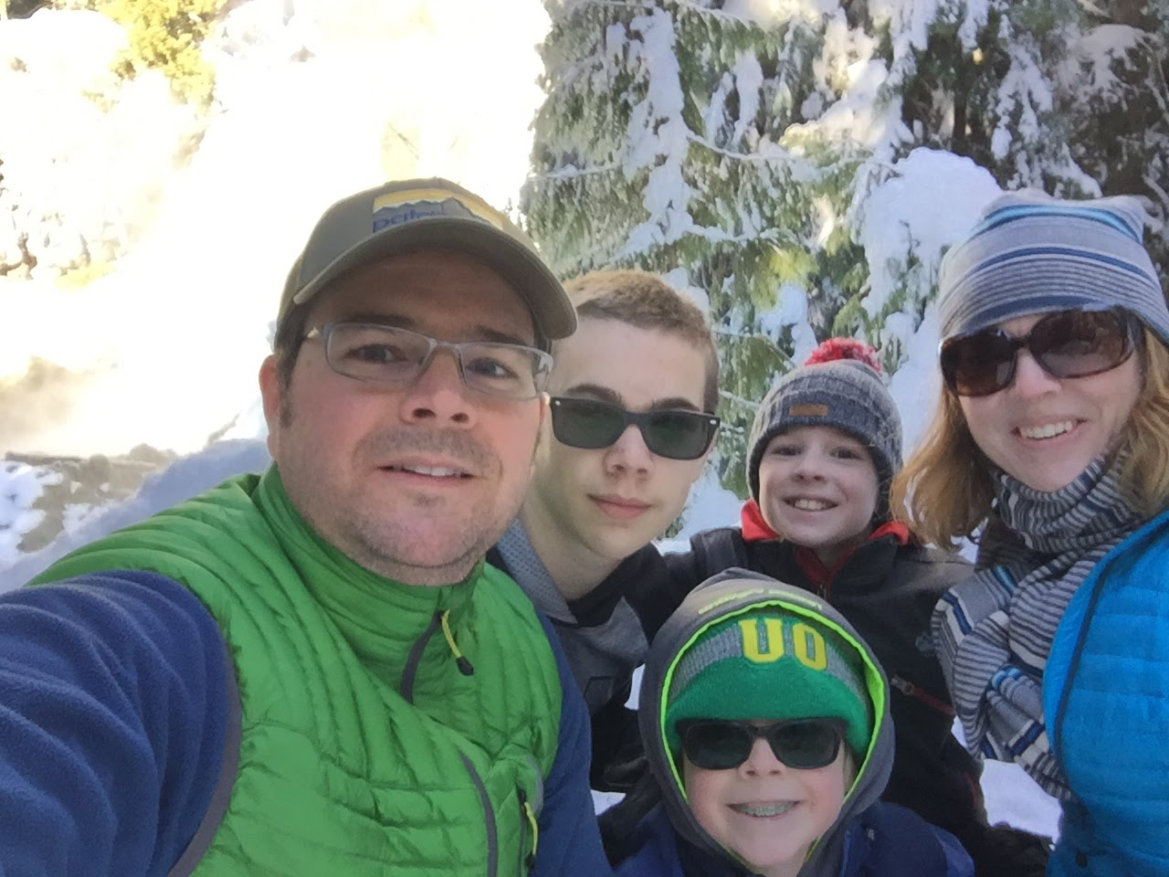 Sahalie Falls Christmas Break 2015