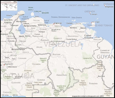 Mapa de VENEZUELA, BING