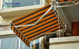 Canopy Kain awning gulung