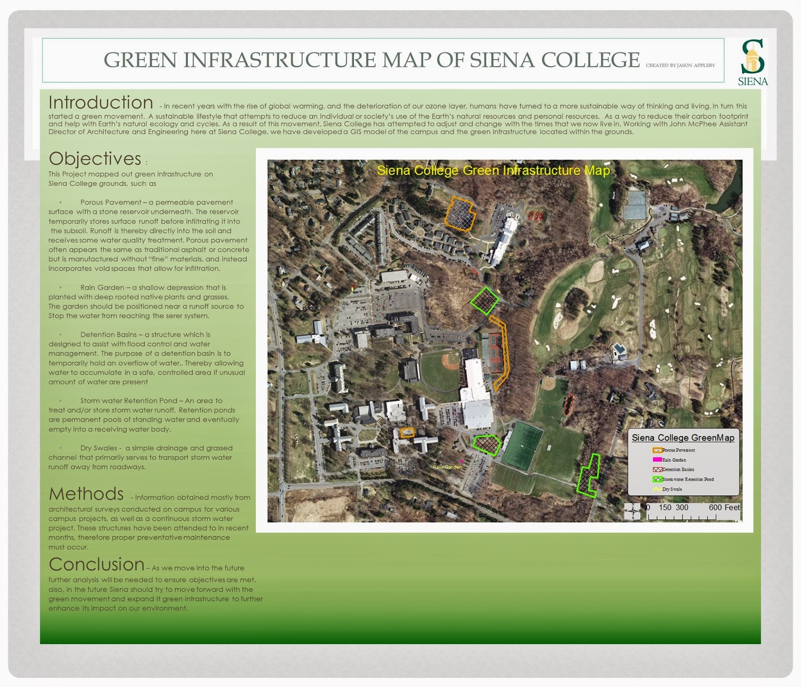 Siena College Green Map 2013