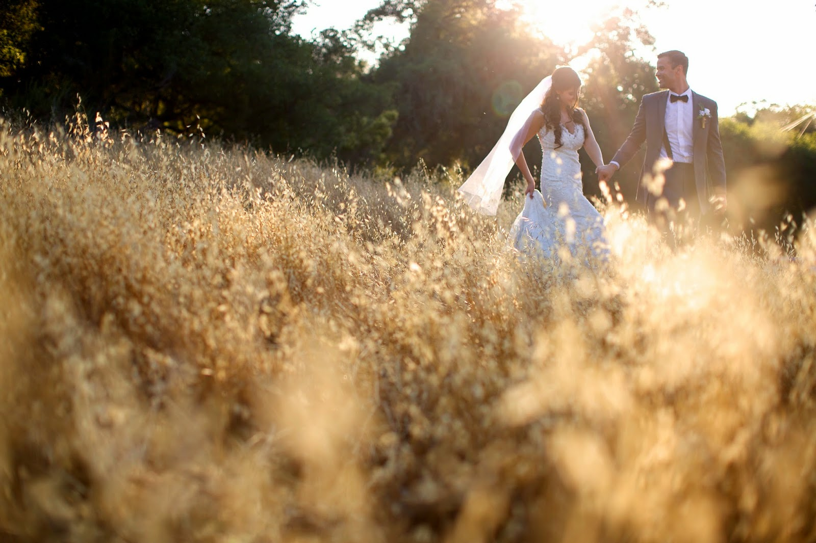 wheat field wedding