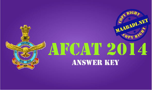 AFCAT Answer Key 2014