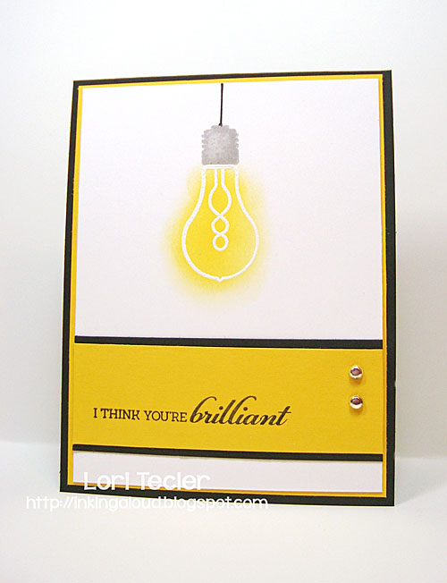 I Think You're Brilliant card-designed by Lori Tecler/Inking Aloud-stamps from Mama Elephant