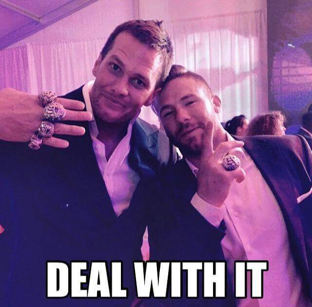 deal with it.- #brady #dealwithit #4rings #4superbowlrings #Party #patriots #tombrady