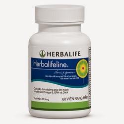 Herbalifeline viên dầu cá Omega 3, (EPA) (DHA), vitamin E
