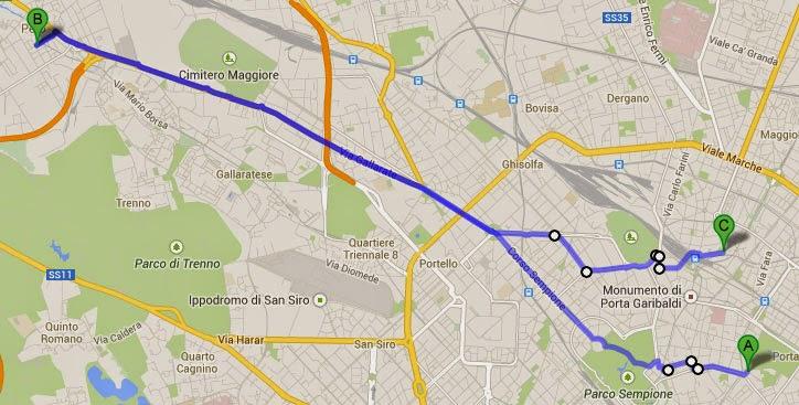 https://maps.google.it/maps?saddr=Piazza+Cavour,+20121+Milano&daddr=45.4729635,9.188046+to:45.4738724,9.1868999+to:45.4729451,9.183372+to:45.508309,9.08522+to:45.4875928,9.165611+to:45.4836316,9.1706405+to:45.485372,9.181545+to:45.485255,9.1819512+to:45.483991,9.182069+to:Via+Gaetano+de+Castillia&hl=it&ll=45.494315,9.147491&spn=0.106734,0.198956&sll=45.489502,9.142857&sspn=0.106743,0.198956&geocode=FcLbtQIdGFGMAClX9f8it8aGRzEvY884k1jmwA%3BFcPctQIdzjKMACnF7B2YtMaGRzEi7G7QHvdB8Q%3BFVDgtQIdUy6MACkn2TnLtMaGRzGSAnnj7Wn3zg%3BFbHctQIdjCCMACk7CdaAS8GGRzGYl_akS0pENQ%3BFdVmtgIdJKGKAA%3BFegVtgIdK9uLAClhc512F8GGRzFHToN2xQR8ag%3BFW8GtgId0O6LAClxGHA0PMGGRzGKWhSUC7ilJQ%3BFTwNtgIdaRmMACmFmo5SMMGGRzFVm-sxixaK3A%3BFccMtgId_xqMACktN6atMcGGRzGIjZhU92k25Q%3BFdcHtgIddRuMACmBX1UQMcGGRzH8K-B2I5q09A%3BFZYOtgIdPUKMAA&oq=Vicolo+De+Castillia+26&dirflg=w&mra=ltm&via=1,2,3,5,6,7,8,9&t=m&z=13