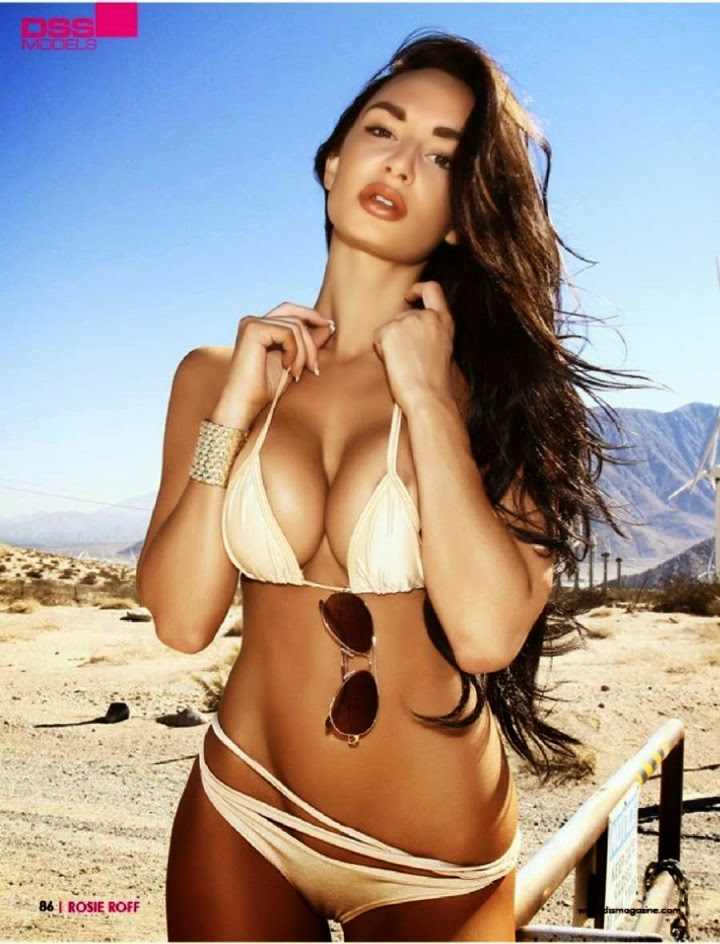 Rosie Roff hot bikini in deserrt for DSS Spain Magazine