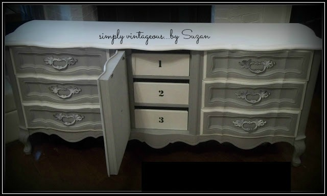 chalk paint, annie sloan, paris grey, white, french provincial, makeover, painted