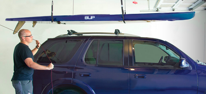paddleboard storage hoist