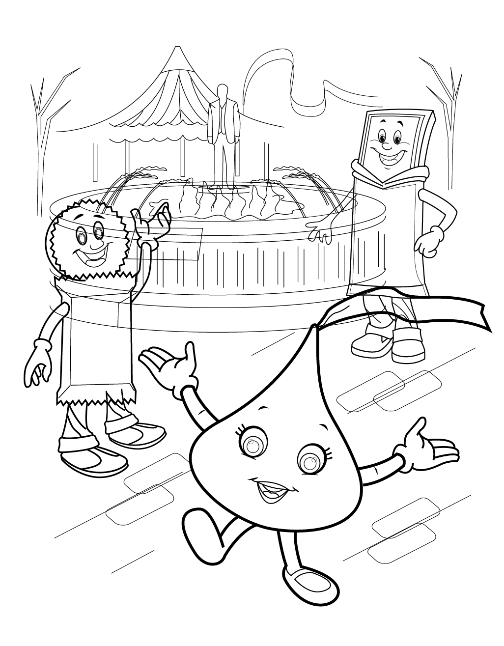 hersheys coloring pages - photo#2