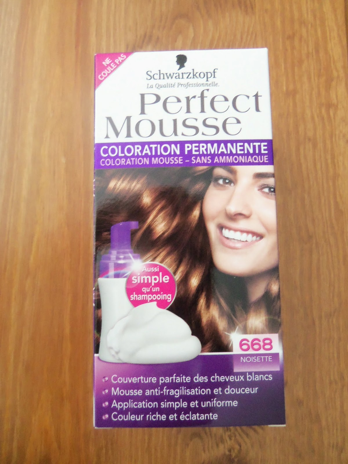 jai tent la coloration perfect mousse couleur noisette a la base je suis chatain clair il sagit dune coloration permanente sans ammoniaque - Coloration Cheveux Sans Ammoniaque