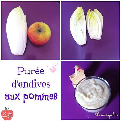 purée d'endives aux pommes BB mange bébé mange bio  recette bébé à partir de 6 mois