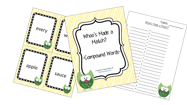 http://www.teacherspayteachers.com/Product/Compound-Word-Center-Owl-Themed-992287