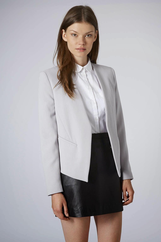 pale grey blazer topshop