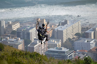 Paragliding off Signal Hill