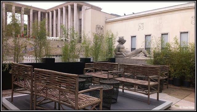 Terrasse Monsieu Bleu Palais Tokyo Paris , soirée Construction