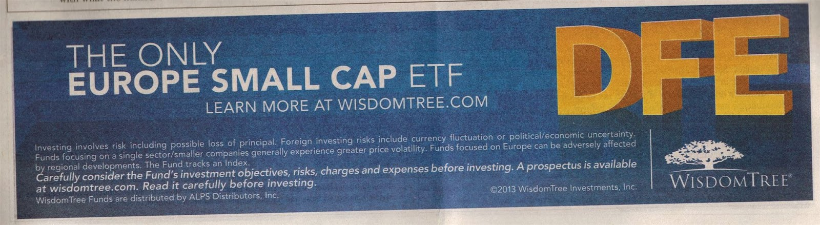 WisdomTree Europe SmallCap Dividend Fund - DFE ETF