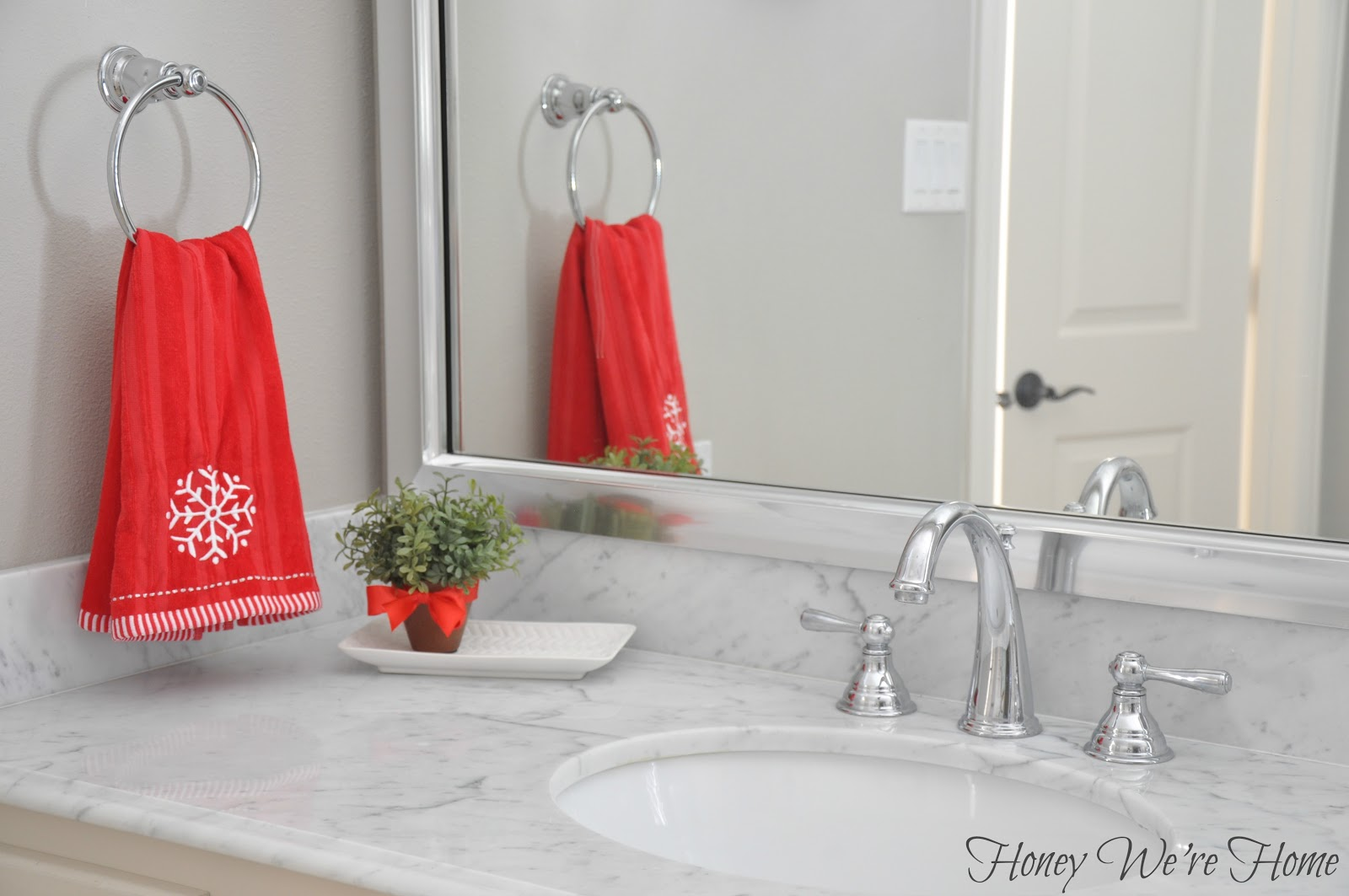 Christmas Bathroom Decor Target : Target holiday accessories in the bathroom honey we re home