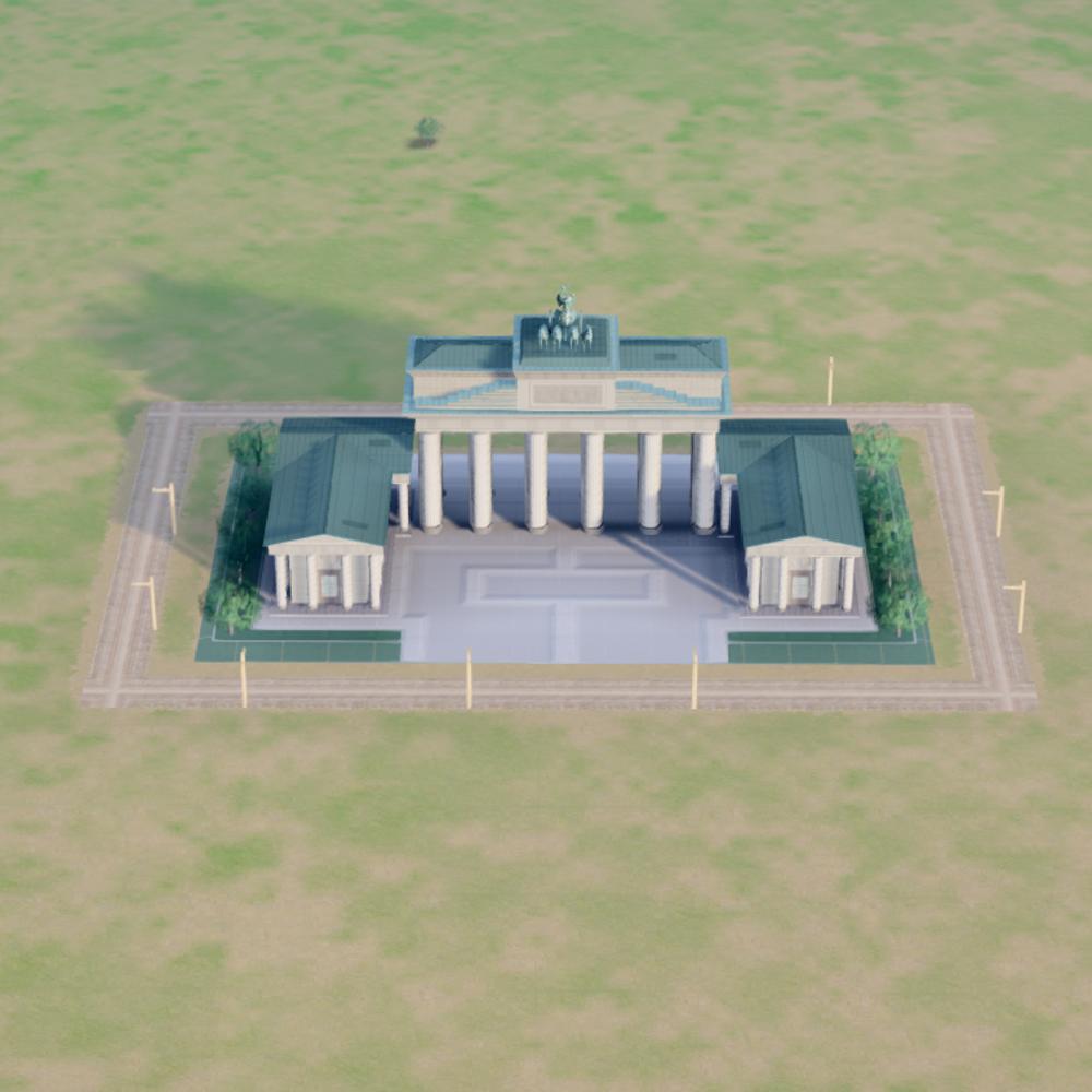 Brandenburg Gate Dimensions Brandenburg Gate 380 x 248