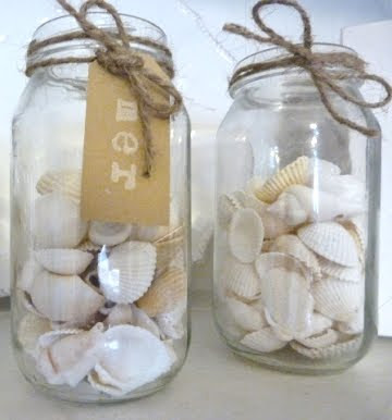 decorated glass jars