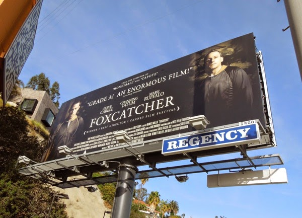Foxcatcher movie billboard Nov 2014