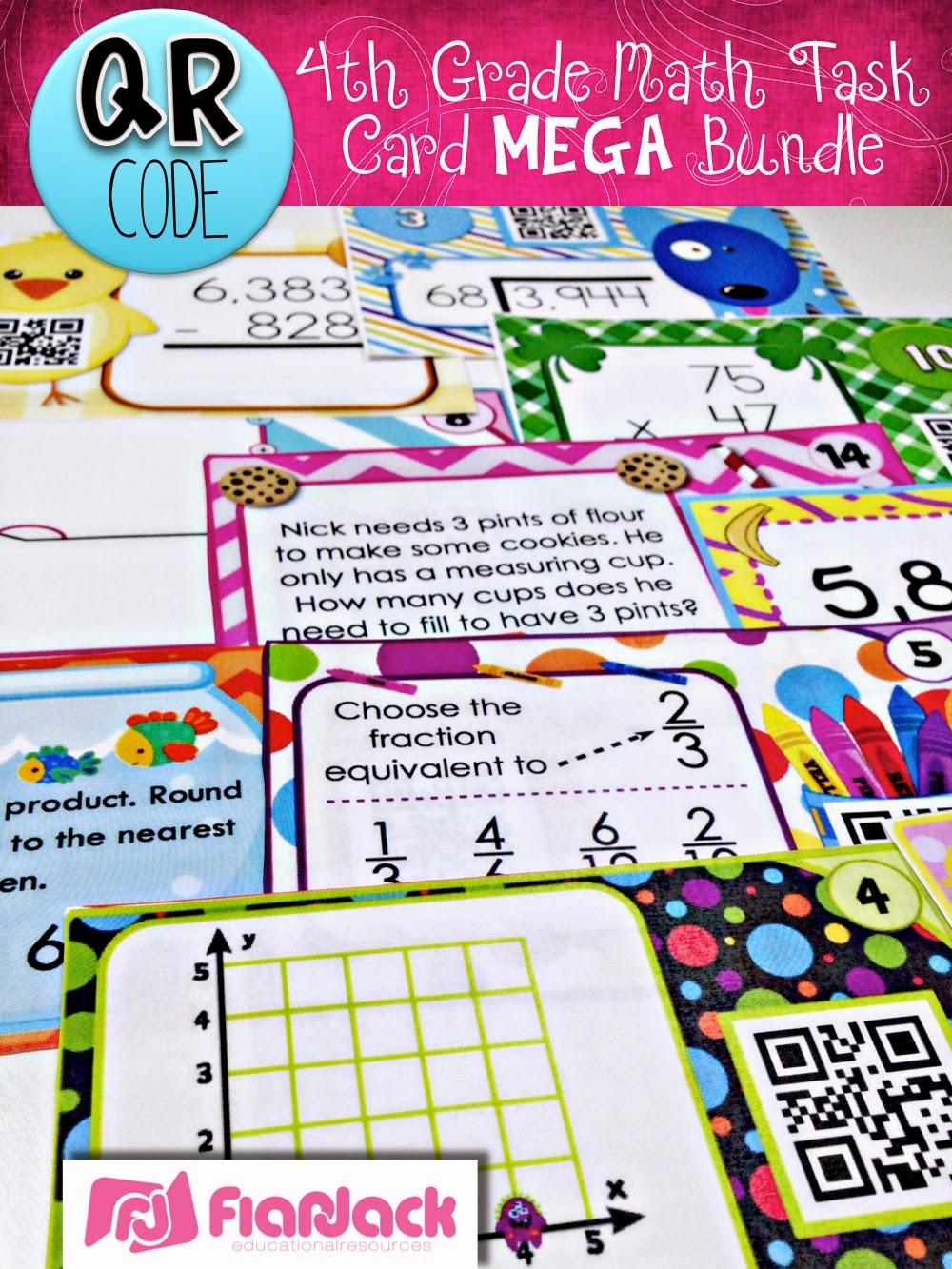 http://www.teacherspayteachers.com/Product/4th-Grade-Math-QR-Code-Task-Cards-MEGA-Bundle-1367254