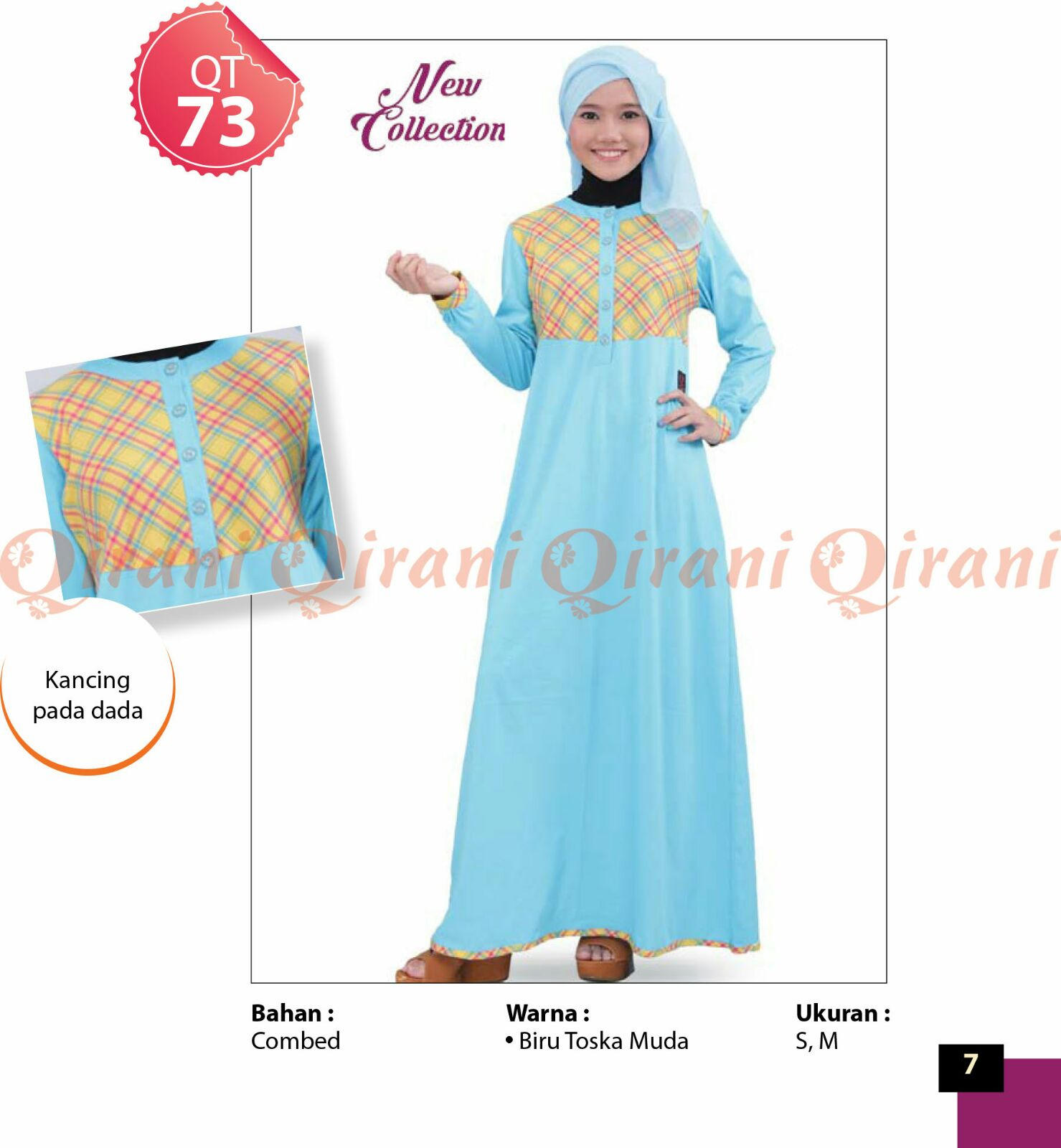Baju Muslim Terbaru 2017 line Busana Muslim Qirani 2016