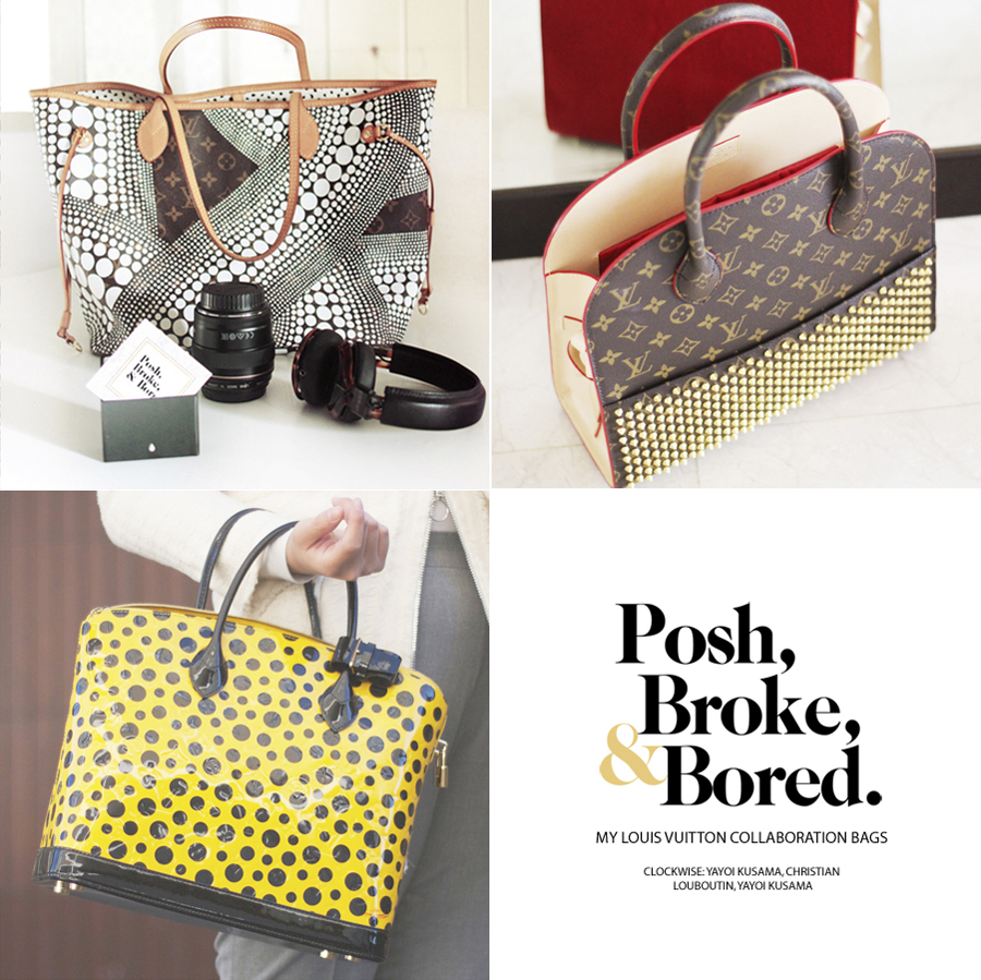 louis vuitton yayoi kusama neverfull. if you had to choose between these three louis vuitton collaboration handbags, which would carry? the yayoi kusama neverfull tote, christian