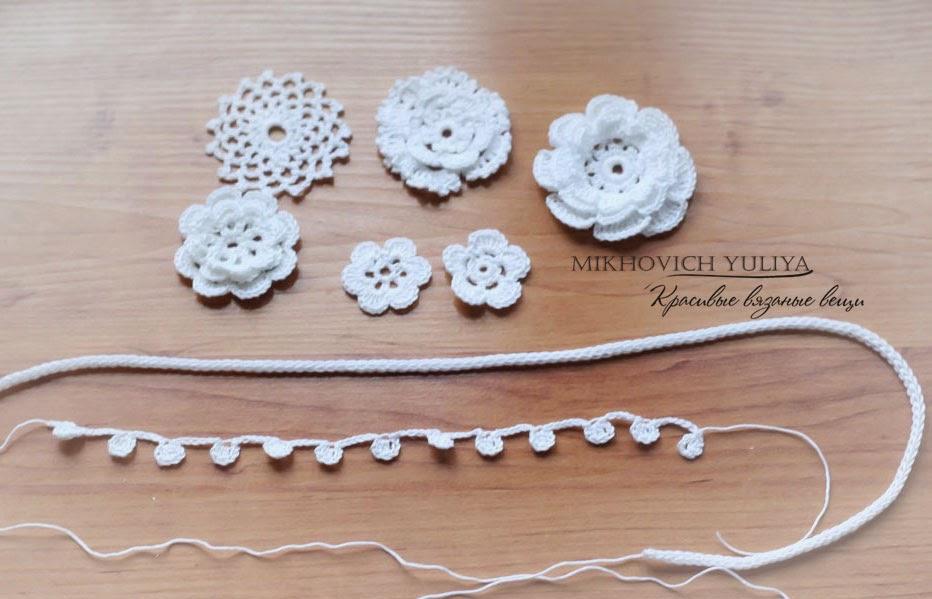 схемы вязания цветов: